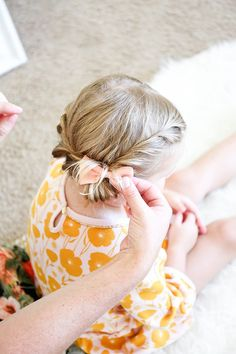 Create A Super Sweet 'Do Using This Easy Toddler Braid Hack Tutorial adding bow to toddler braid Easy Toddler Hairstyles, Toddler Braids, Flower Girl Hairstyles, Fancy Hairstyles, Little Girl Hairstyles, Braided Hairstyles, Hairstyles For Toddlers, Choppy Hairstyles, Hairstyles 2016