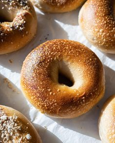 Sourdough Bagels, Sourdough Recipes, Bread Recipes, Bagel Recipe, Baking Stone, Everything Bagel, Food And Drink, Breads, King Arthur