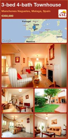 3-bed 4-bath Townhouse in Manchones Nagueles, Malaga, Spain ►€350,000 #PropertyForSaleInSpain