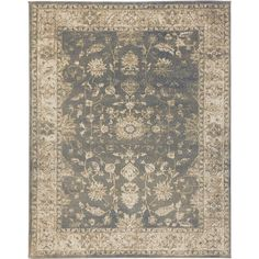 Home Decorators Collection Old Treasures Blue/Cream 5 ft. 3 in. x 7 ft. 3 in. Area Rug - 25145 - The Home Depot