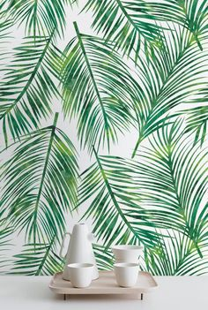 30% OFF from Palm Leaves Self-adhesive Wallpaper, Tropical Wallpaper, Exotic…