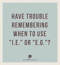 I.e. Versus E.g.