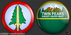 TWIN PEAKS 2 BUTTON SET BOOKHOUSE BOYS SHERIFF'S DEPARTMENT DAVID LYNCH @eBay! http://r.ebay.com/pvcR77 #bookhouseboys #dalecooper #peaker #sheriffharrytruman #coop #theblacklodge