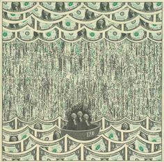 Increíbles Collages Creados con Billetes de un Dólar por Mark Wagner | FuriaMag | Arts Magazine