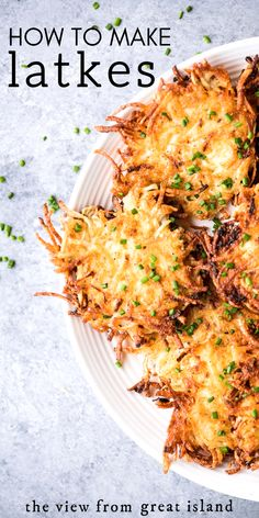 How to Make perfect Latkes your bubbie would love! Tips and tricks to make crisp latkes, plus a spiced cardamom applesauce to go with them. Recipes vegetarian How to Make Perfect Latkes New Recipes, Holiday Recipes, Vegetarian Recipes, Cooking Recipes, Healthy Recipes, Potato Fritters, Potato Latkes, Potato Pancakes, Potato Dishes