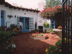 Charming interior courtyard. Lilian Rice 1928