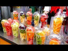 Nước ép trái cây street food Hàn Quốc - Street food Korea - YouTube Fruit Smoothies, Healthy Smoothies, Smoothie Recipes, Fresh Juice Bar, Fresh Fruit, Korea Street Food, Luncheon Recipes, Party Food Buffet, Brunch Appetizers