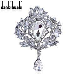 2016 Nova Estrela Jóias Multicolor Gota de Água Rhinestone Cristal Broches Para As Mulheres da Jóia Do Casamento Pin Broches