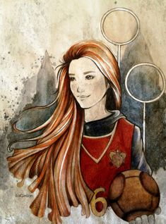 Fan art of Ginny often makes me feel like I was supposed to play her... Chaser by ~LaGelian on deviantART
