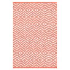 Dash and Albert Rugs Diamond Pink Indoor/Outdoor Area Rug & Reviews | Wayfair