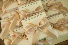 Ideias para casamento e festa: Bloquinhos de papel para lembrancinha de casamento