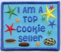 Girl Boy TOP COOKIE SELLER SASH Fun Patches Crest