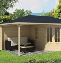 Christoffer Log Cabin With Side Porch 3.5x3.0m