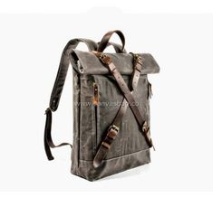 Leather Canvas Backpack (6) Canvas Backpack, Laptop Backpack, Assault Pack, Bug Out Bag, Travel Bags, Camping Gear, Bushcraft, Fashion Backpack, Leather Bag