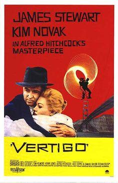 'Vertigo', 1958 - Directed by Alfred Hitchcock, starring James Stewart & Kim Novak. For me, Vertigo resonates because of it's special Dali-esque visual effects, plus Bernard Herrmann's hauntingly beautiful score. Scotty (Stewart) pursues Madeleine-Judy (Novak) up until the tragic closing sequence of one of Hitchcock's greatest films.