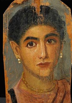 ♔ Paintings from the 2nd century AD showing mummy portraits of ancient Egyptians.