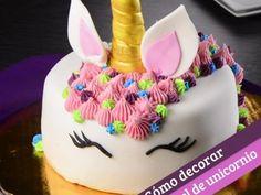Decoración de pastel de unicornio