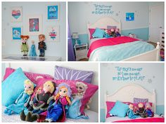 Frozen Inspired Kids Room, Frozen Inspired Kids Room - Inspired from my 3 year old daughters love for the new movie Frozen., A darling quote from the movie which my daughter really relates to ties it all together., Girls Rooms Design