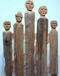 Mountain Gate. Wormy chestnut, carved, 1984. Hellen Bullard Krechniak (1900-1996). Photo by Bisse.