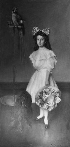 Louise McAllister Jongers (formerly Young): portrait by Alphonse Jongers, c.1908