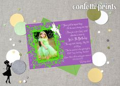 TINKERBELL Birthday Invitation / Photo Card by ConfettiPrintsShop, $12.00