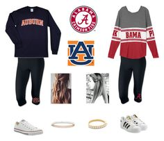 """""""Two different teams but still in the same state"""" by ponyboysgirlfriend ❤ liked on Polyvore featuring adidas Originals, NIKE, Converse and Kate Spade"""