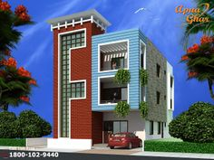 5 bedroom, modern triplex (3 floor) house design. Area: 240 sq mts (12m X 20m). Click on this link (http://www.apnaghar.co.in/login.aspx?ReturnUrl=%2fmember%2fshow-design.aspx%3fhdid%3d255&hdid=255) to view free floor plans (naksha) and other specifications for this design. You may be asked to signup and login. Website: www.apnaghar.co.in, Toll-Free No.- 1800-102-9440, Email: support@apnaghar.co.in