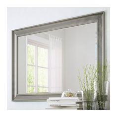 SONGE Spegel, silverfärgad silverfärgad 91x130 cm