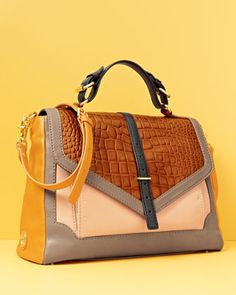 This bag is oh so necessary! Tory Burch Colorblock Satchel
