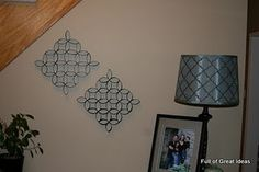 Toilet Paper Art... FREE PROJECT if you use toilet paper and have some spray paint lying around.