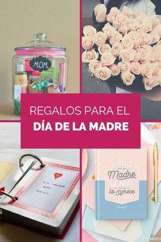 Lista de ideas de regalo DIY y materiales para el día de la madre. Regalos manuales, fáciles, originales, baratos, sencillos y bonitos para dar las gracias a tu madre. Y regalos originales para comprarle.