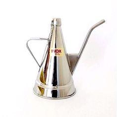 Vintage Stainless Steel Olive Oil Pourer Dispenser 1/4 L Portuguese Tinsmithing #Unbranded