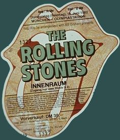 The Rolling Stones The Rolling Stones, Rock And Roll, Keith Richards Guitars, Olympia, Bill Graham, Stone World, Charlie Watts, Tour Posters, Led Zeppelin