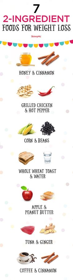 """Try these 7 """"2-Ingredient"""" Foods for Weight Loss today! #weightloss"""