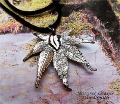 Antique Silver Japanese Maple Leaf. WoodSmith from Etsy