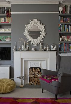 A London home where gray is just a backdrop. Love this! It's absolutely gorgeous. :)