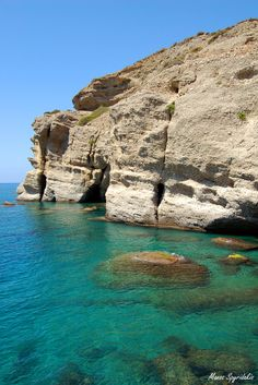 Matala /Crete/Hellas  None of the photos here do the water justice. It is so clear that you're afraid to fall through it when swimming.
