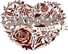 J'adore illustrated logo