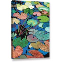 ArtWall Allan Friedlander Sparkling Pond Gallery-wrapped Canvas, Size: 16 x 24, Blue