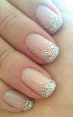 So pretty! Wedding Nail Art - Glitter