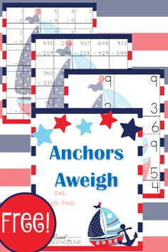 Free Nautical Math Pack (K-2) - By Year Round Homeschooling