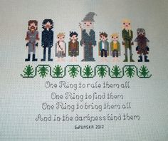 Lord of the Rings Cross Stitch