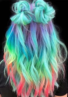Haare & Frisuren DIY 60 Amazing Green Ombre Hairstyle Design To Try In 2019 wholesale sexy lingerie Cute Hair Colors, Pretty Hair Color, Beautiful Hair Color, Hair Color Purple, Hair Dye Colors, Blue Ombre, Green Hair, Amazing Hair Color, Ombre Color