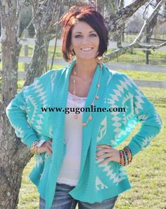 Graced With Style Jade Aztec Cardigan