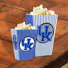 Kentucky Wildcats Sports Party Popcorn Boxes