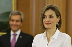 Queen Letizia and King Felipe attend audiences in Madrid
