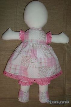 pattern in Russian Doll Crafts, Diy Doll, Doll Patterns, Sewing Patterns, Doll Tutorial, Sewing Dolls, Raggedy Ann, Soft Dolls, Baby Girl Dresses