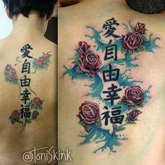 #Tatuagem por @ToniSkink, São Paulo, Brasil. Para ter uma #tattoo como essa, ligue 55 11 4562 9000, WhatsApp 11 96886 6623 ou escreva para skinktoni@gmail.com - Siga também @SkinkTattooSP #TattooBR #TattooBrasil #TattooSP #TattooZN #TattooJardins #BlackWork #Ink #Inked #Tattooed #rosetattoo #watercolourtattoo #tattooaquarela #aquarelatattoo