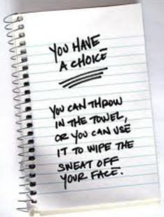 You have a choice