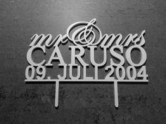 """Cake Topper """"Mr & Mrs"""" Hochzeitstorte von logo-cut auf DaWanda.com"""